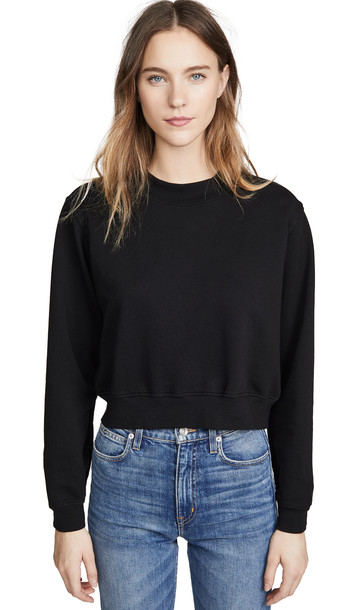Cotton Citizen Milan Cropped Sweatshirt in black