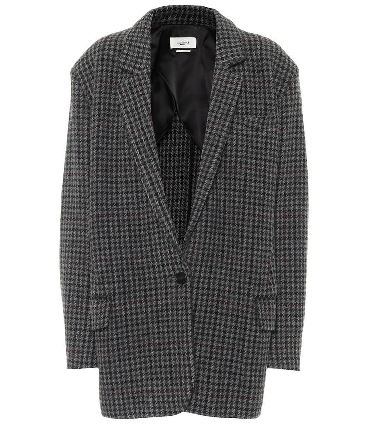 Isabel Marant, Étoile Kaito houndstooth virgin-wool blazer in grey