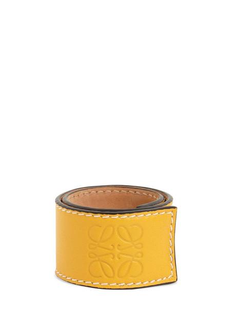 LOEWE Small Leather Slap Bracelet in yellow