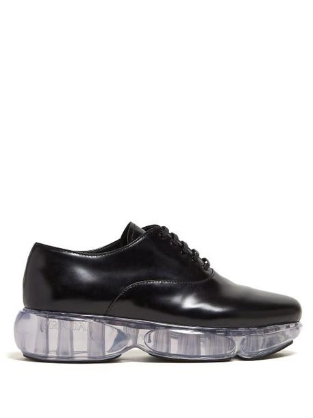 Prada - Cloudbust Sole Leather Oxford Shoes - Womens - Black