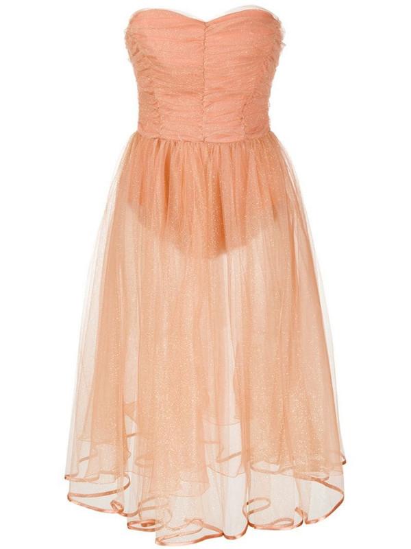 Elisabetta Franchi sheer tulle glitter detail gown in pink