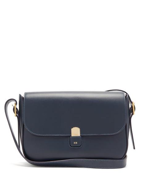 Hillier Bartley - Leather Shoulder Bag - Womens - Navy