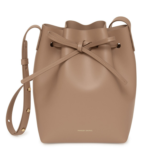 Mansur Gavriel Calf Mini Bucket Bag - Biscotto