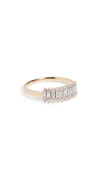 Adina Reyter Stack Baguette Ring in gold / yellow