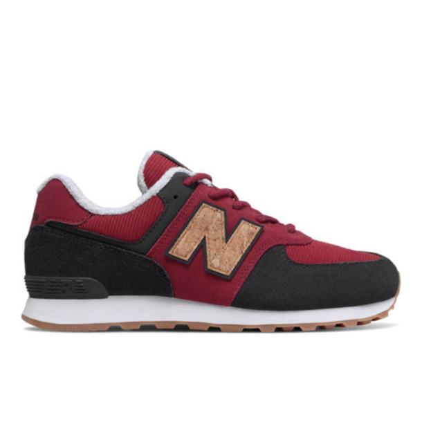 New Balance 574 Kids' Little Kid Shoes - Brown/Red/Black (PC574KWS)