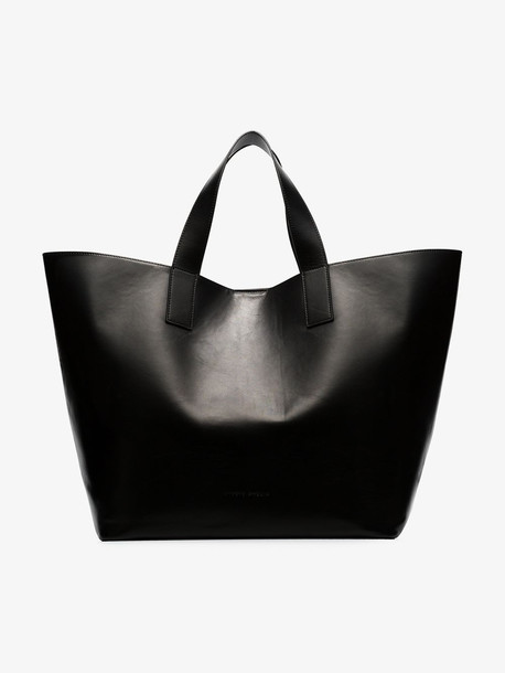 Studio Amelia Black Oversized leather tote bag