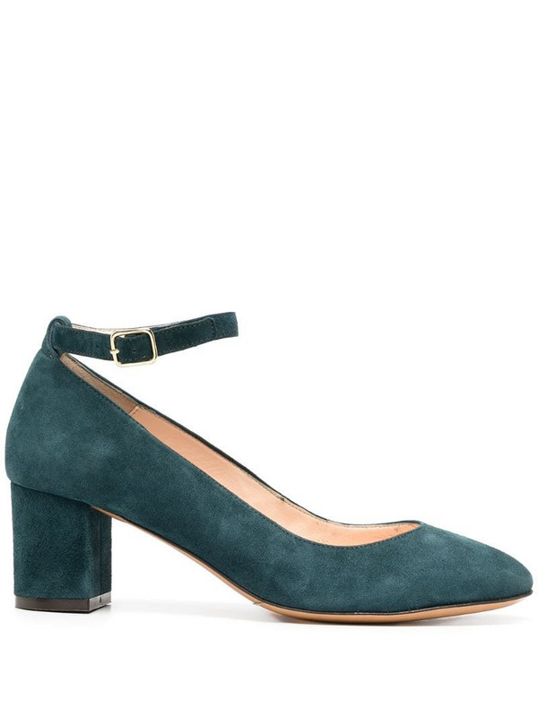 Tila March Holly block heel pumps in blue