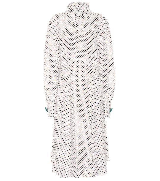 Christopher Kane Polka-dot crêpe midi dress in white