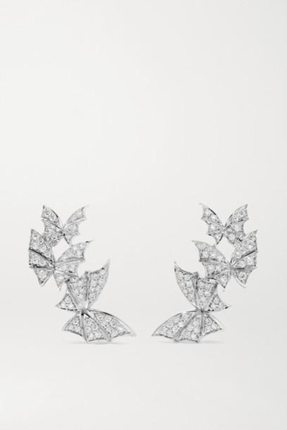 Stephen Webster - Fly By Night 18-karat White Gold Diamond Earrings