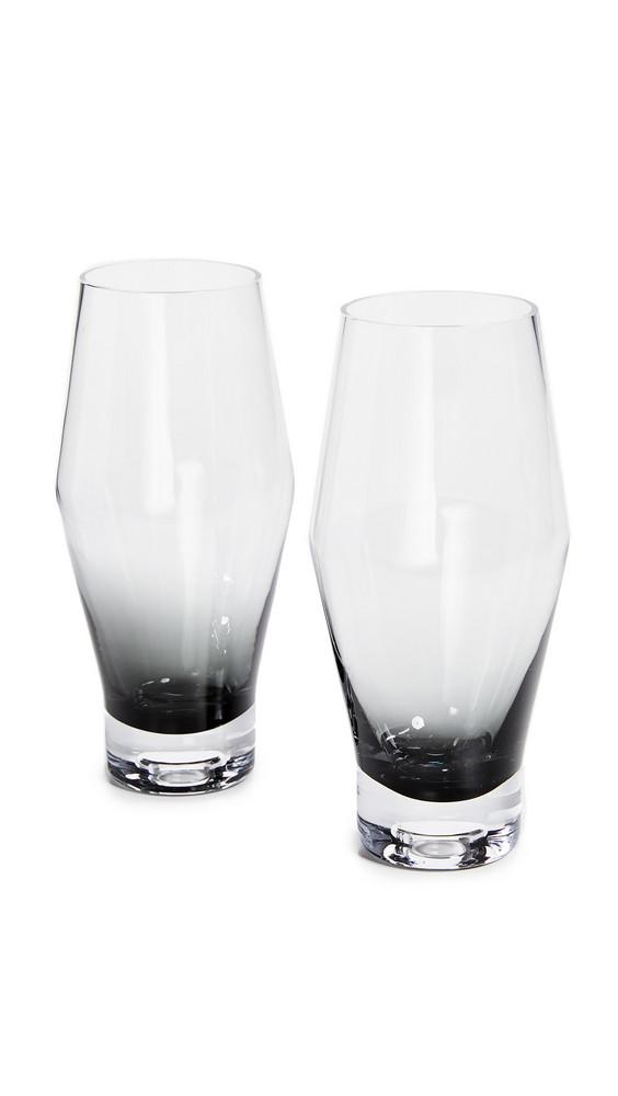 Tom Dixon Tank Beer Glass Set in black / clear