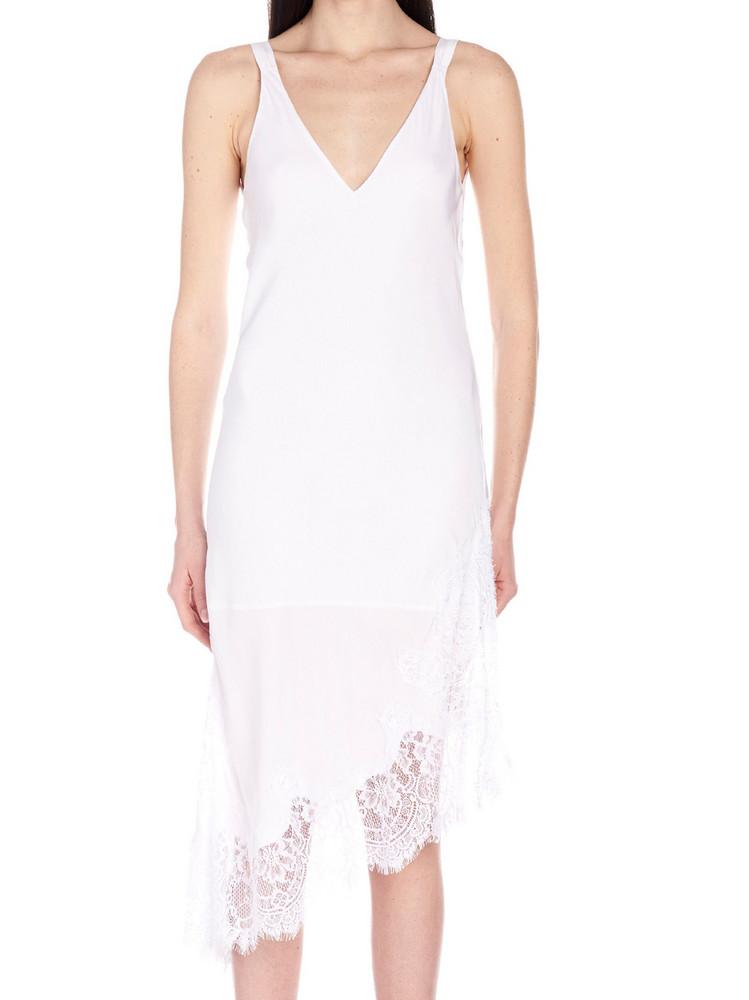Gold Hawk Dress in white