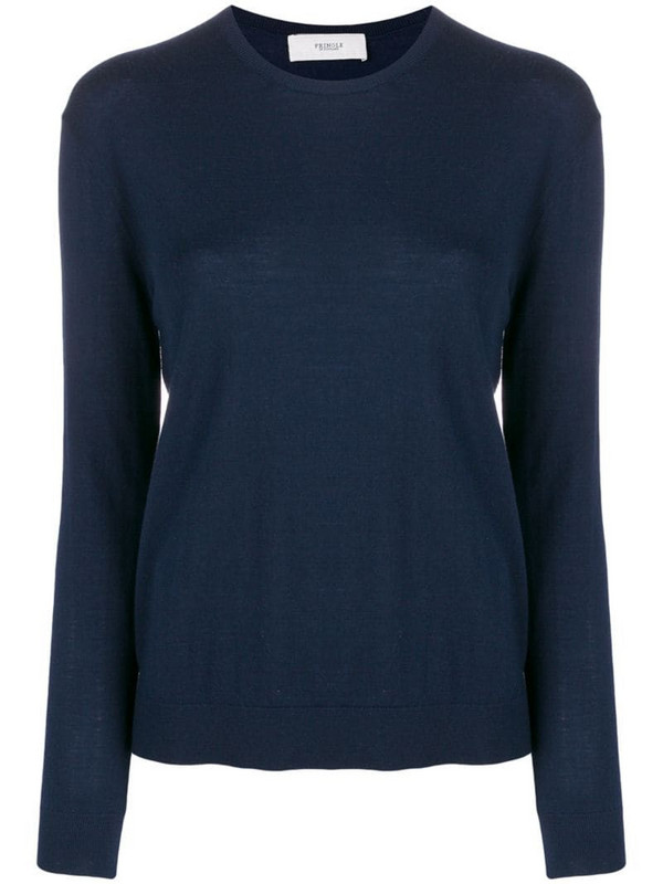 Pringle of Scotland round-neck knitted jumper in blue