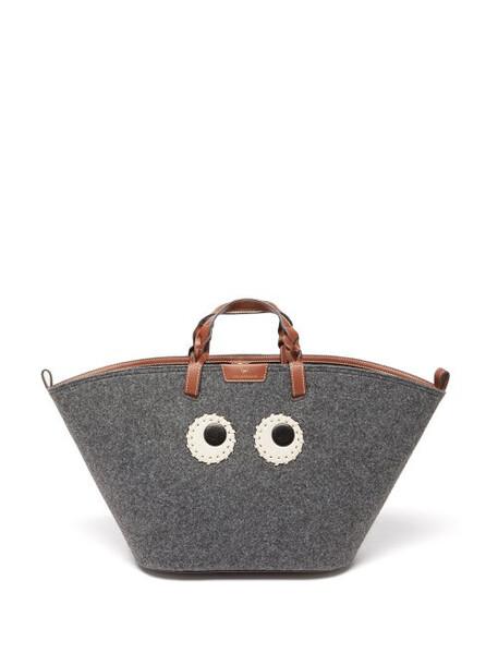 Anya Hindmarch - Eyes Recycled-fibre Felt Tote Bag - Womens - Grey