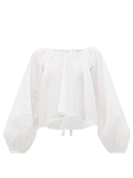 Wiggy Kit - Lavender Fields Fil Coupé Cotton Top - Womens - White