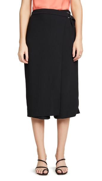 Amanda Uprichard Wrap Front Trousers in black