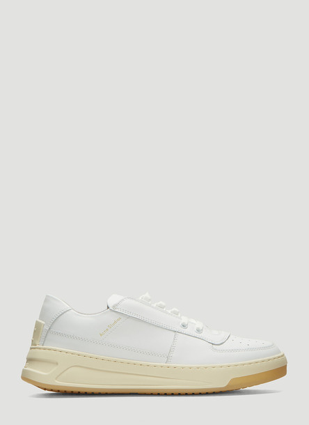 Acne Studios Steffey Lace Up Fastening Sneakers in White size EU - 36