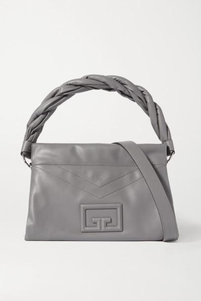 Givenchy - Id93 Medium Leather Shoulder Bag - Dark gray