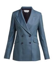 blazer,double breasted,blue,wool,jacket