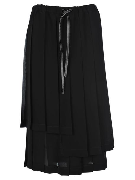 Loewe Pleated Skirt in black