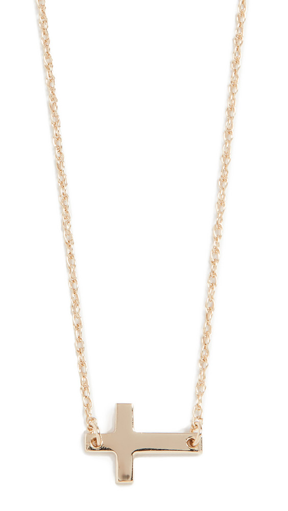 Jennifer Zeuner Jewelry Theresa 1/2 Necklace in yellow