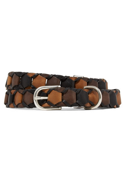 rag & bone - Arrow Woven Leather Belt - Brown