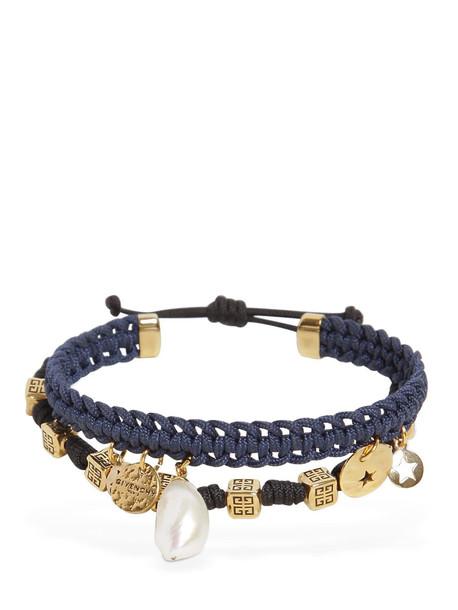 GIVENCHY Logo Bracelet in black / navy
