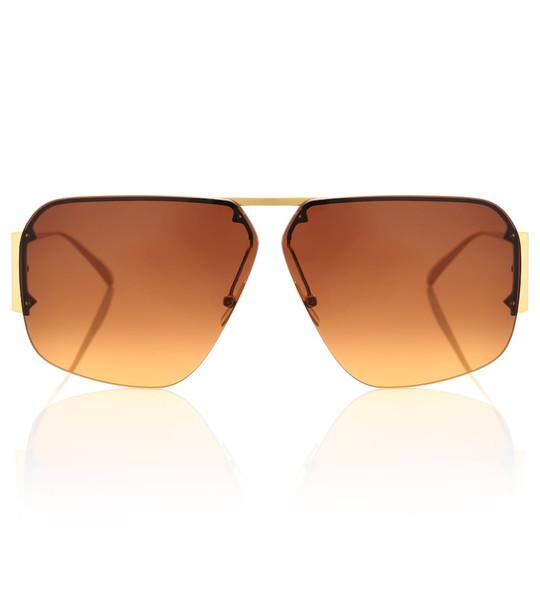 Bottega Veneta Aviator sunglasses in gold