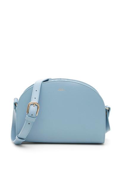 A.P.C. A.P.C. Demi Lune Crossbody Bag in blue