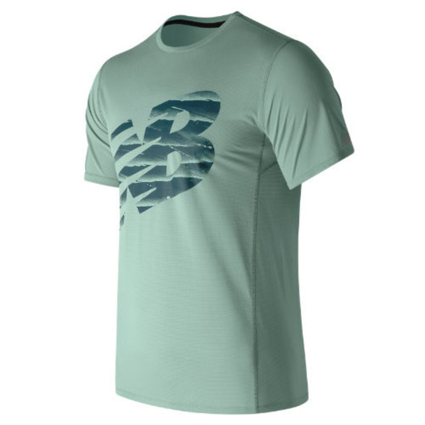 New Balance 71066 Men's Accelerate Graphic Short Sleeve - Blue/Black (MT71066STB)