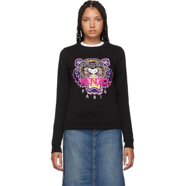 Kenzo Black Classic Tiger Head Sweatshirt