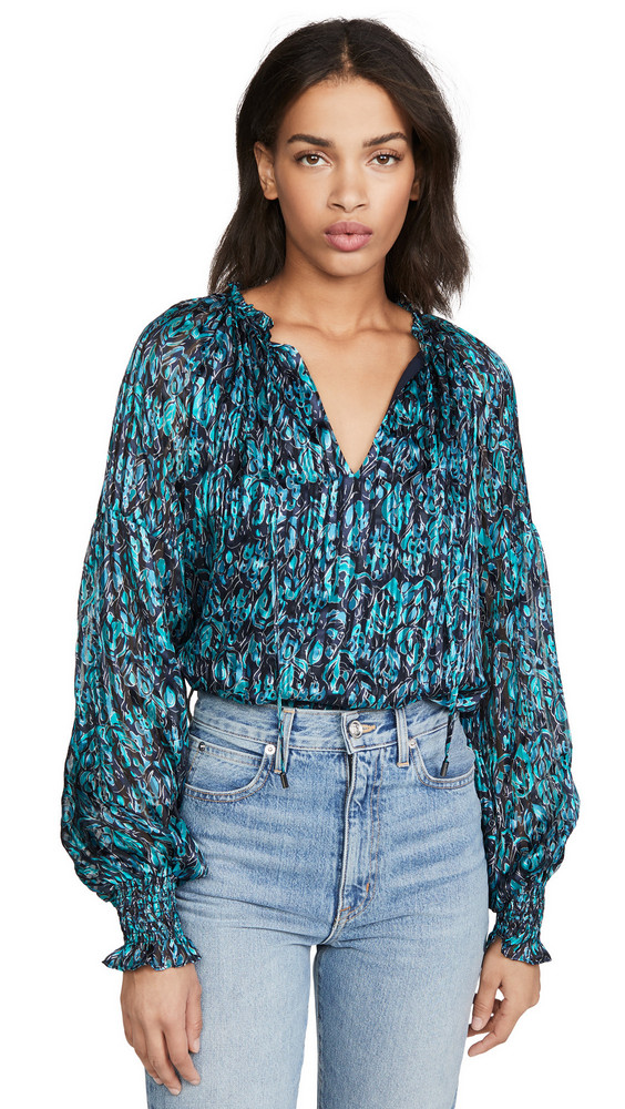Ramy Brook Luanne Blouse in teal