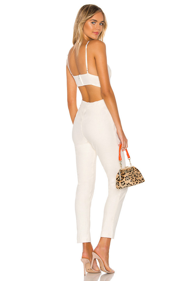 NBD Madison Jumpsuit in white