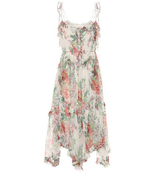 Zimmermann Bellitude floral silk-chiffon midi dress