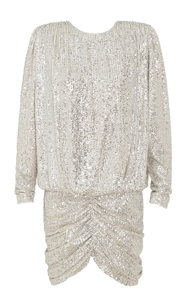 Retrofête Flynn Sequin-Embellished Mini Dress Size: S in silver