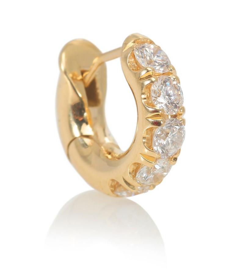 Spinelli Kilcollin Mini Micro Pavé 18kt yellow gold single earring with diamonds