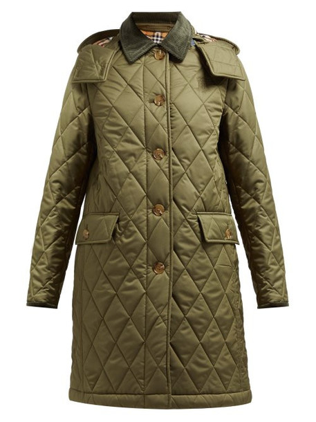 Burberry - Dareham Diamond Quilted Jacket - Womens - Green