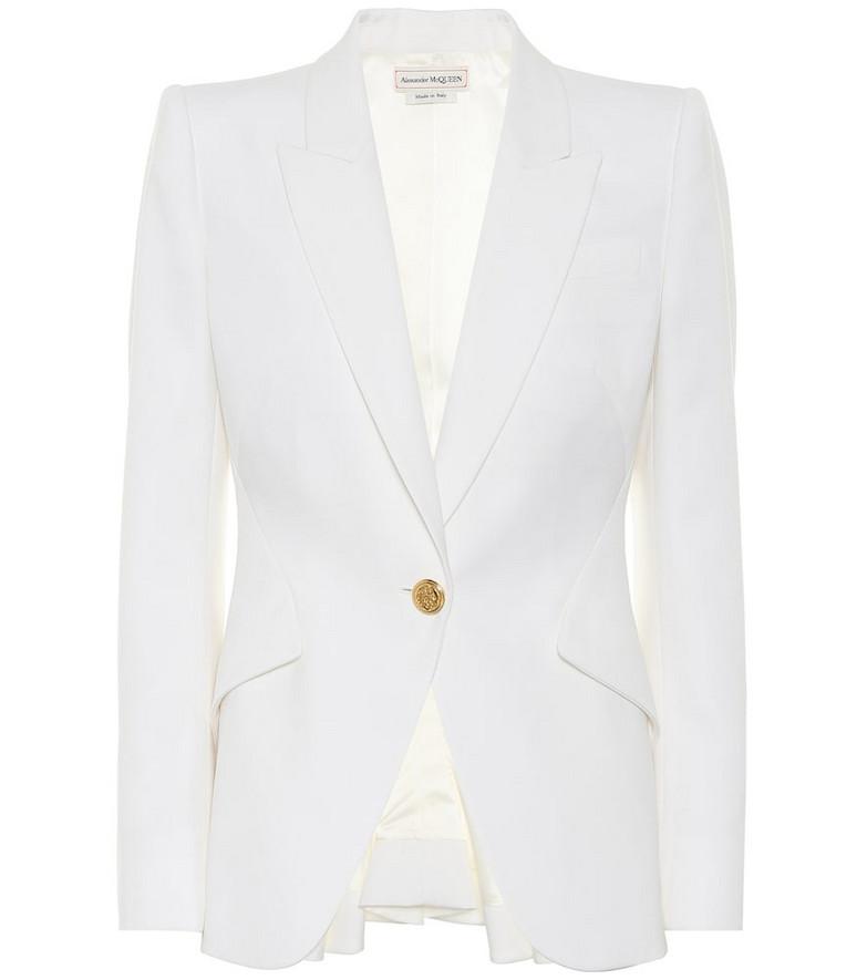 Alexander McQueen Virgin-wool blazer in white