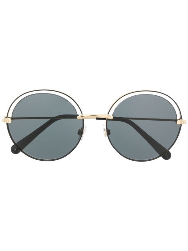 Dolce & Gabbana Eyewear round sunglasses with cut-out detail in black