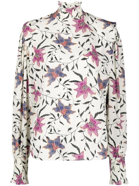 Isabel Marant Étoile floral-print blouse in neutrals
