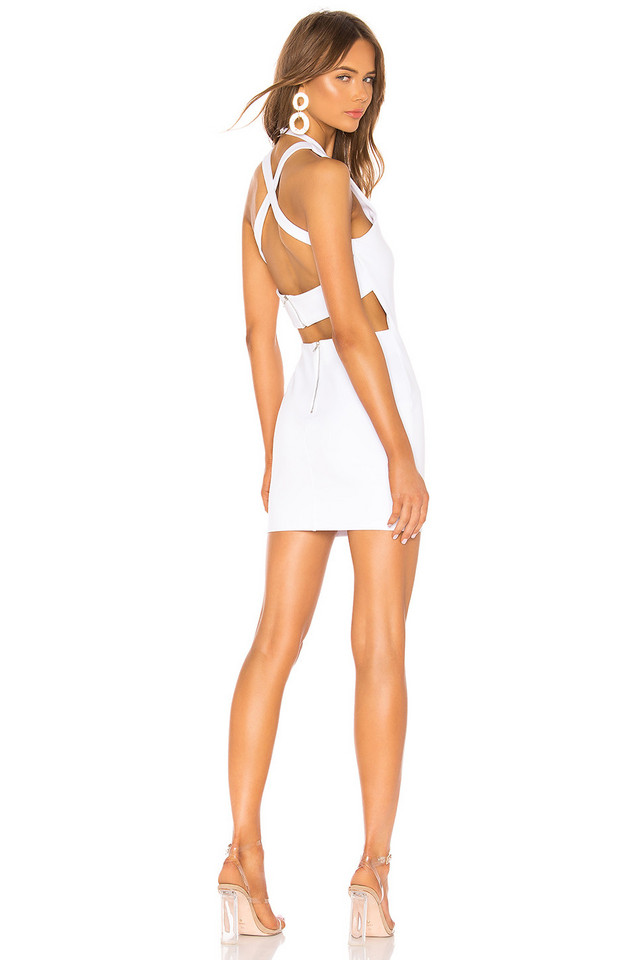 by the way. Annamarie Halter Mini Dress in white