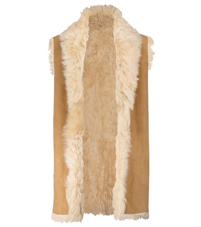 Polo Ralph Lauren Reversible shearling vest in brown