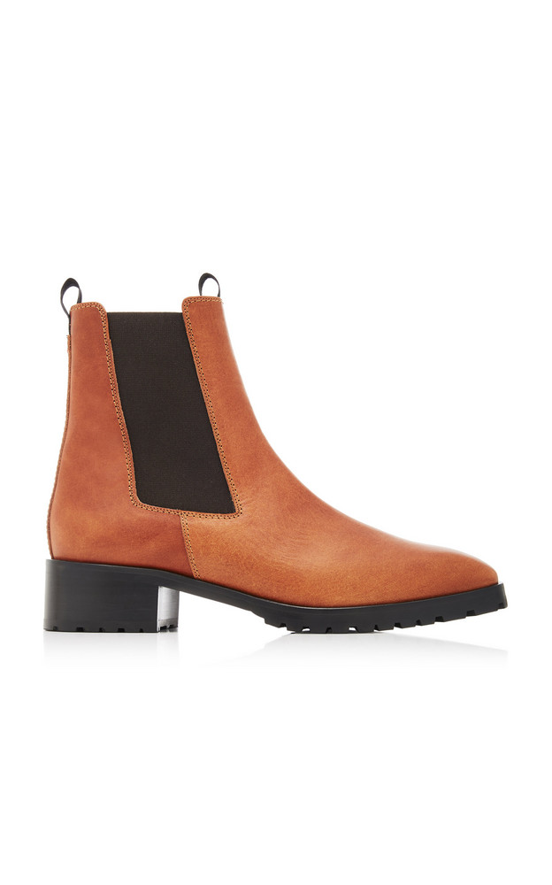 Aeyde Karlo Leather Chelsea Boots in brown