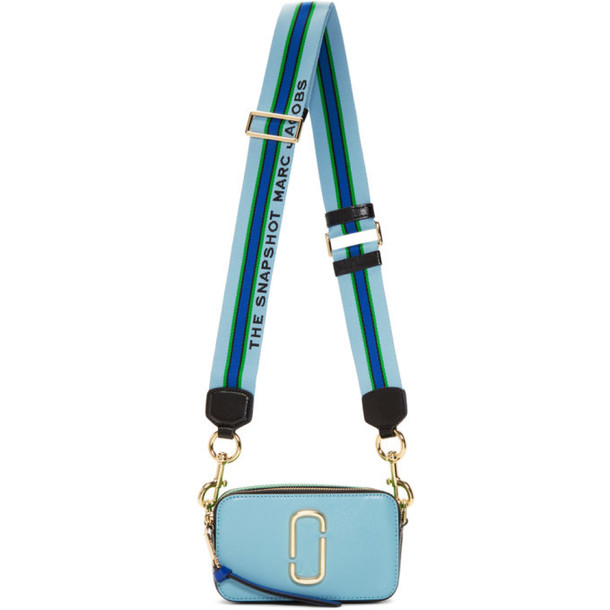 Marc Jacobs Black and Blue Small Snapshot Bag