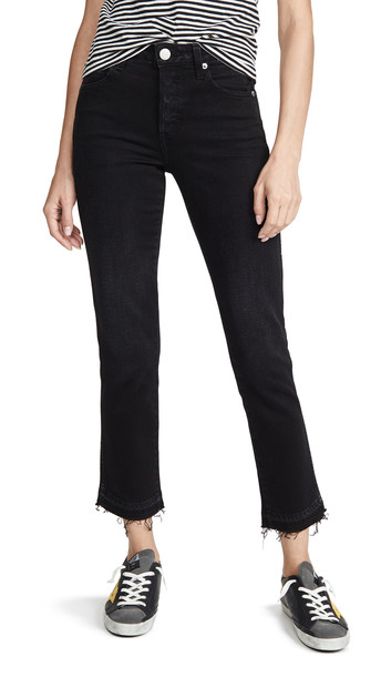 AMO Babe High Rise Slim Fit Jeans in black