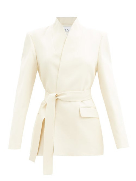 Raey - Curved-edge Wool Suit Jacket - Womens - Ivory