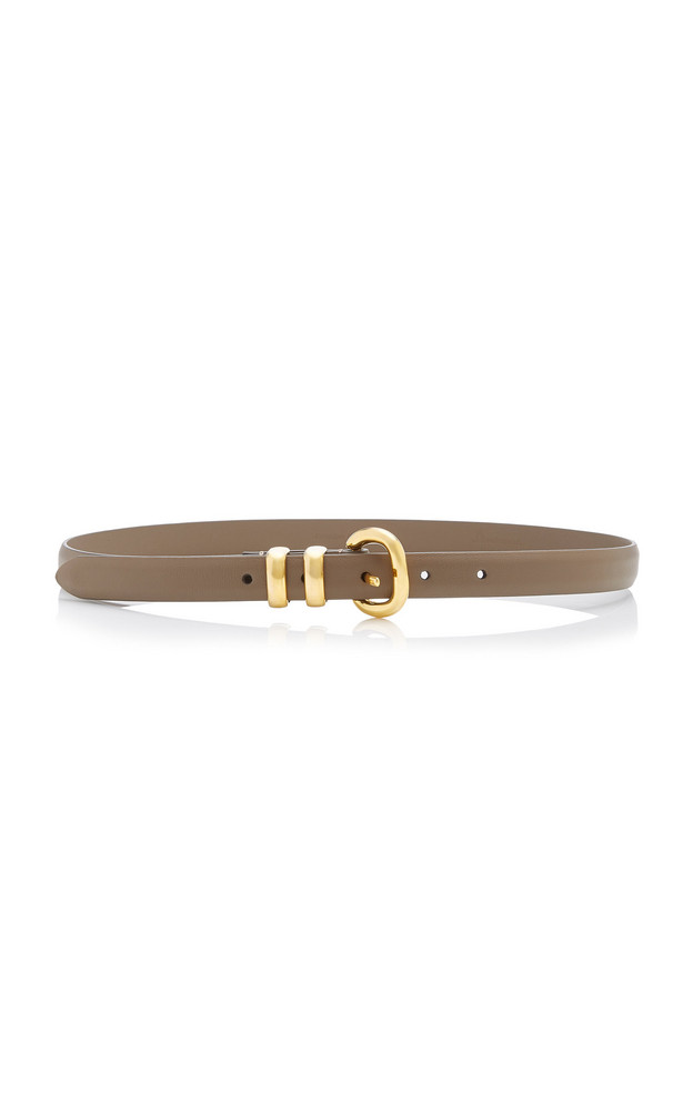 Anderson's Skinny Satin-Finish Leather Belt Size: 65 cm in grey