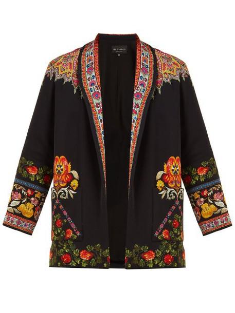 Etro - Itadaki Paisley Print Open Front Jacket - Womens - Black Multi
