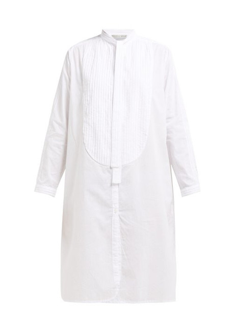 Queene And Belle - Iona Pintucked Cotton Shirtdress - Womens - White