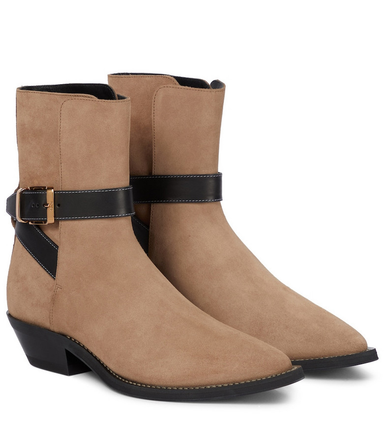 Tod's Suede ankle boots in beige