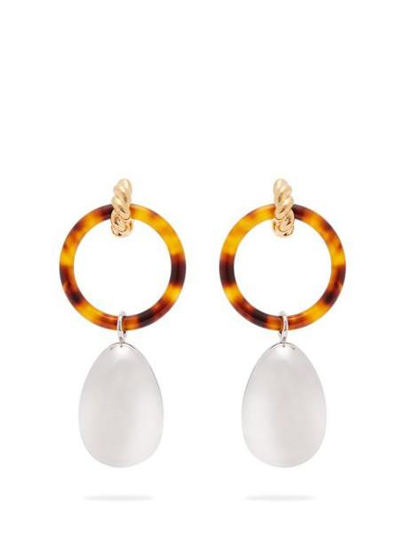 Balenciaga - Hoop And Pendant Earrings - Womens - Silver